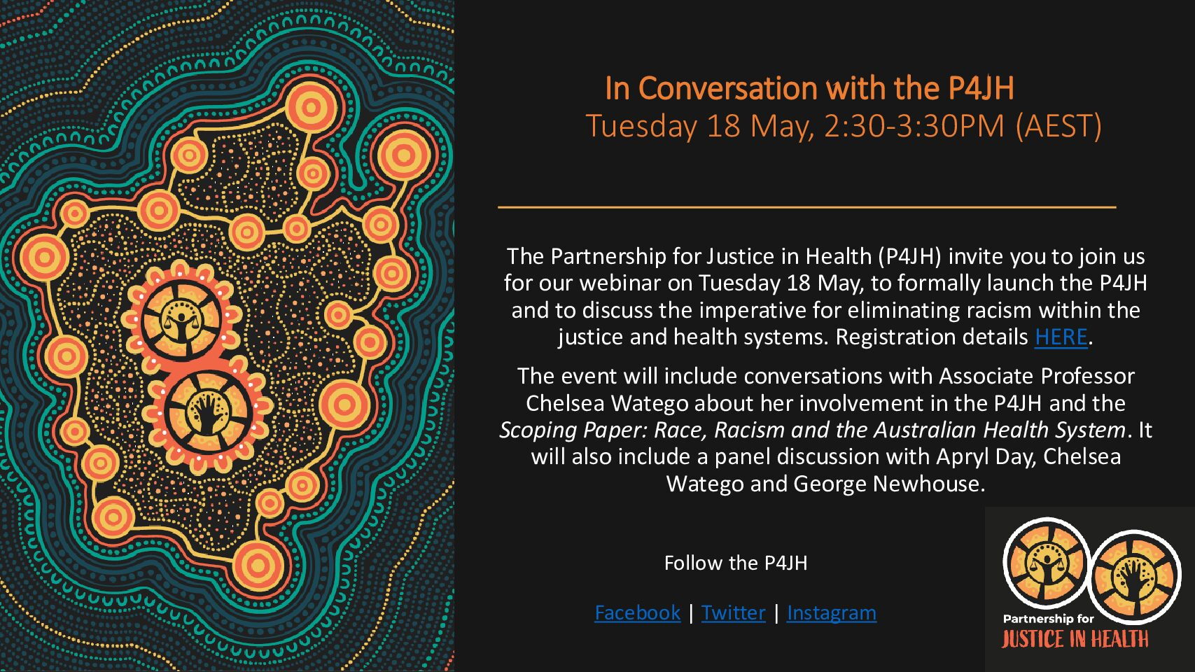 In Conversation with the P4JH_Webinar Invite